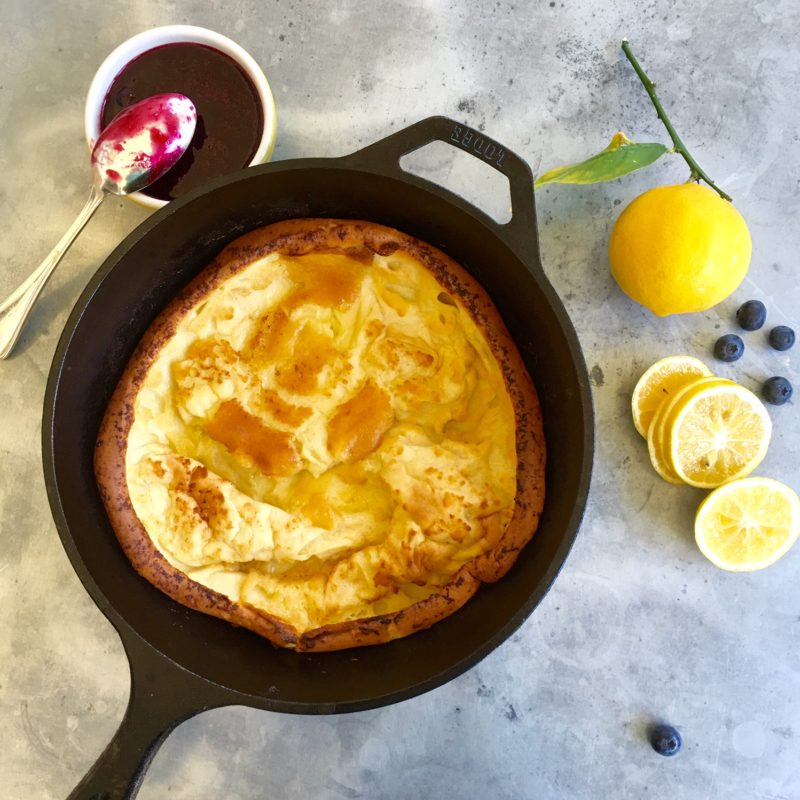 Dutch Baby (a single skillet pancake baked in the oven)