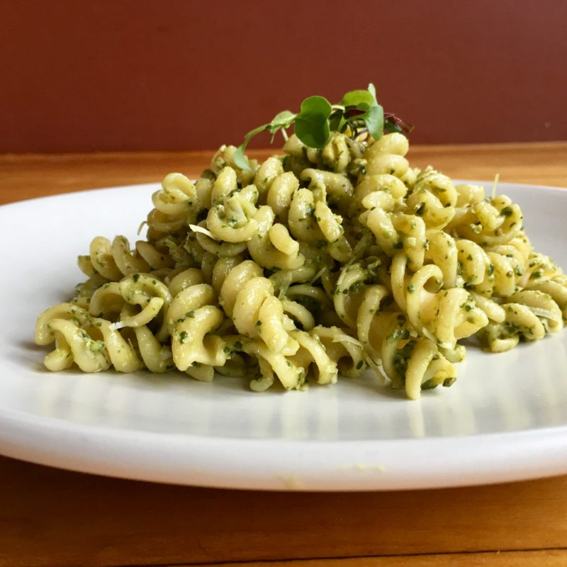 Pasta with Creamy Avocado and Yogurt Pesto